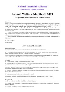 AIA Animal Welfare Manifesto 2019 A4